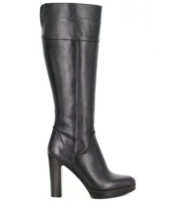 Cizme elegante Anna Viotti negre din piele naturala