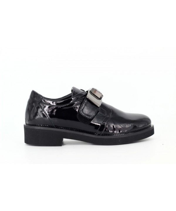 Pantofi dama Anna Viotti din piele naturala lacuita negri