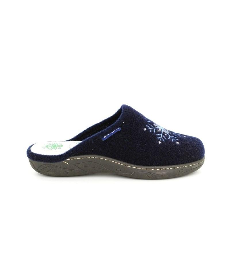 Papuci de casa de dama Sanital Light blu