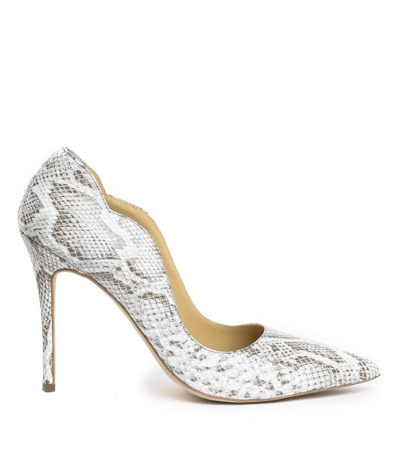 Pantofi dama GUBAN Alb din piele naturala D1250