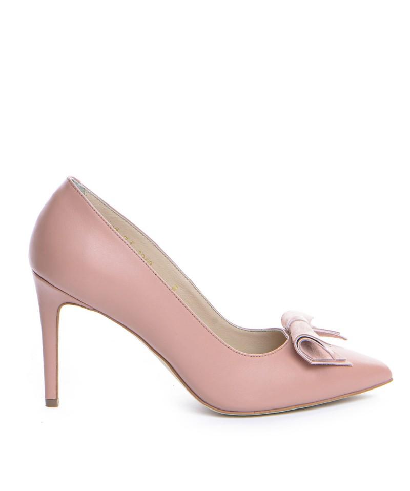 Pantofi dama GUBAN Roz pal din piele naturala D1340