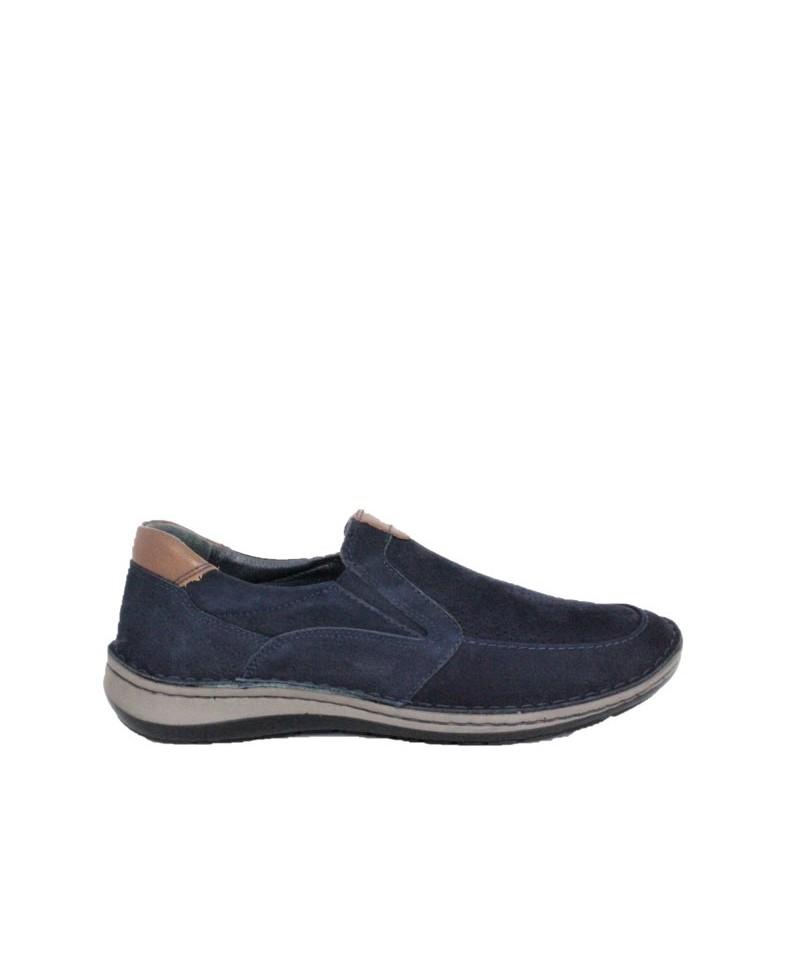 Pantofi casual Dr JELL'S Bleumarin din piele naturala