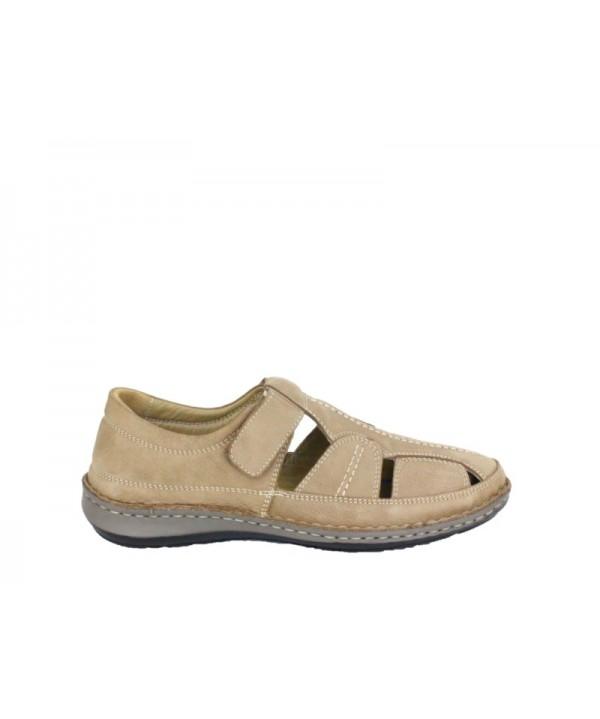Sandale barbati DR JELL'S Bej din piele naturala B9991