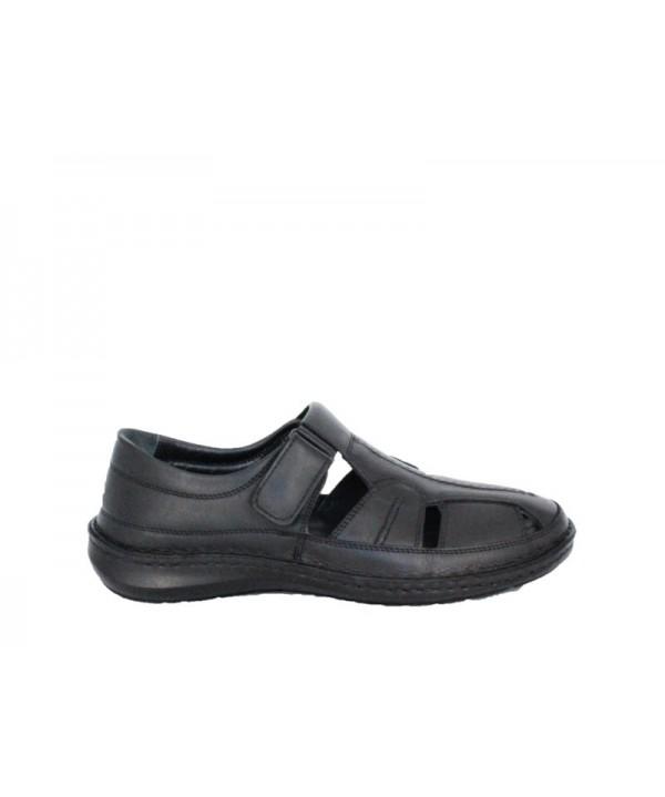 Sandale barbati DR JELL'S Negru din piele naturala B9991