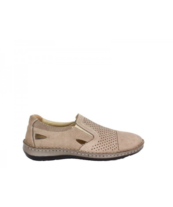 Pantofi casual Dr JELL'S Bej din piele naturala B9993
