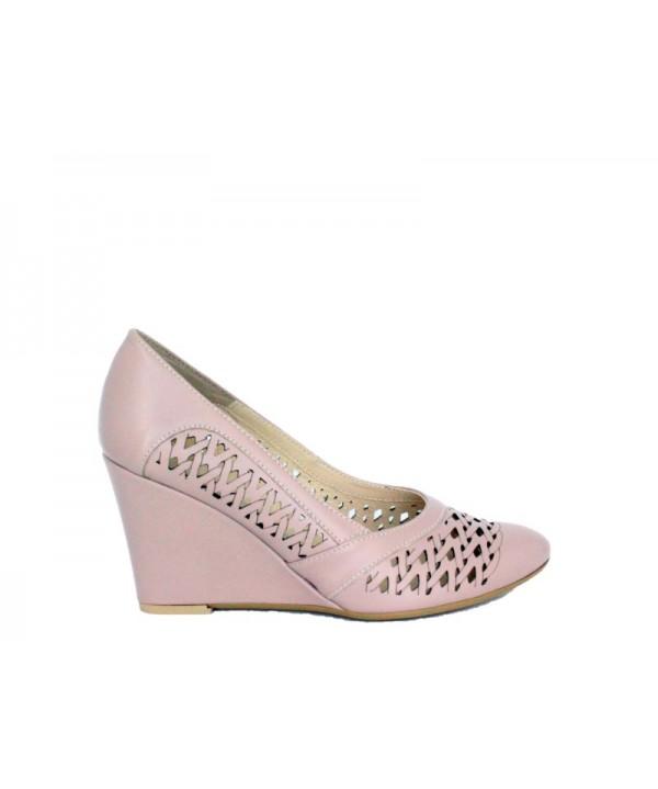Pantofi eleganti KORDEL Roz pal din piele naturala 2162