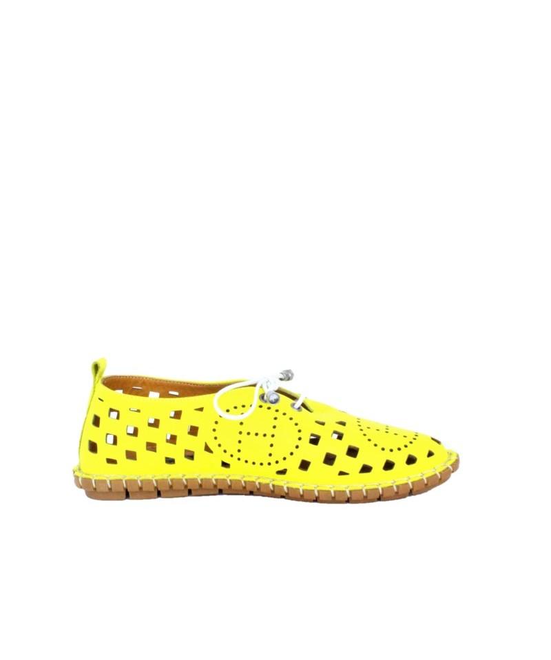 Pantofi  dama Anna Viotti Galben din piele naturala