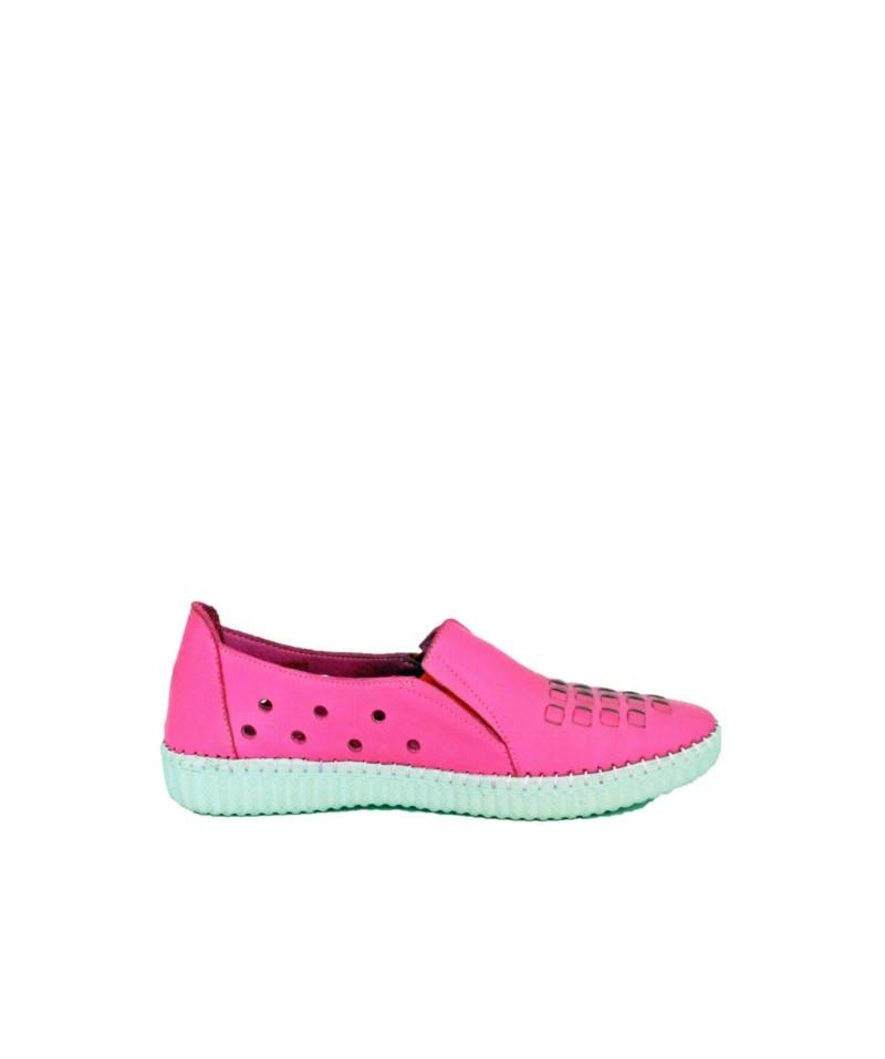 Pantofi dama Anna Viotti Roz din piele naturala D4611