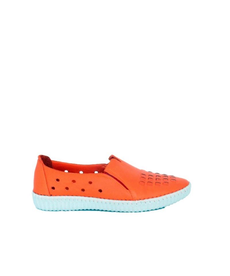 Pantofi  dama ANNA VIOTTI Portocaliu din piele naturala D4611
