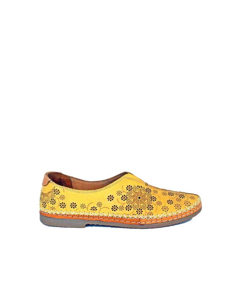 Pantofi casual ANNA VIOTTI Galben din piele naturala D900