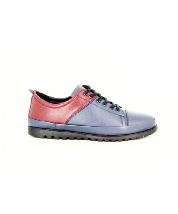 Pantofi casual GORETTi bleumarin, din piele naturala