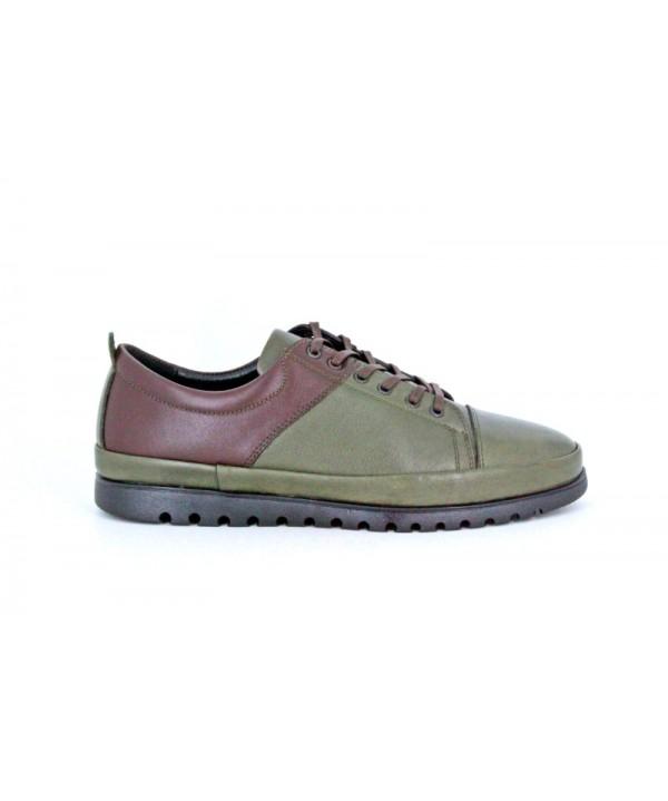 Pantofi casual GORETTI Verde, din piele naturala