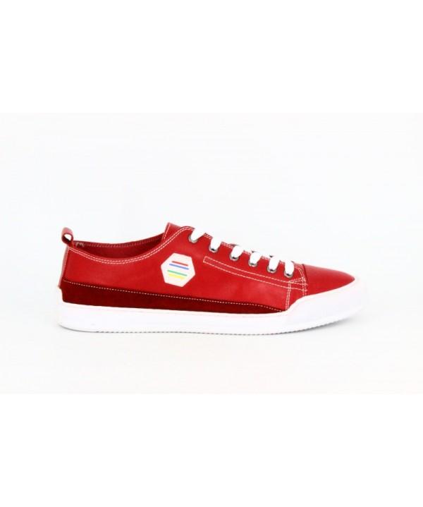 Pantofi sport GORETTI Rosu din piele naturala