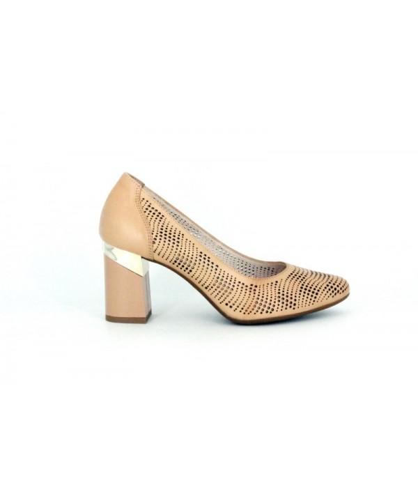 Pantofi eleganti KORDEL Bej din piele naturala