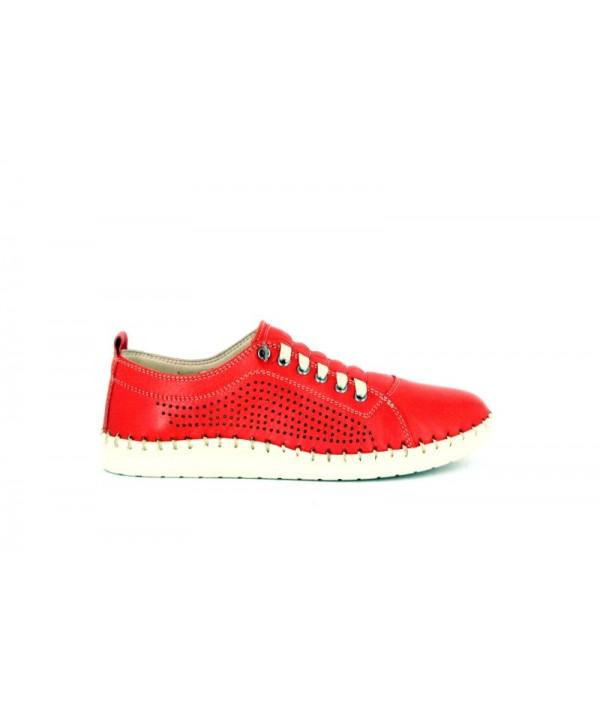 Pantofi sport ANNA VIOTTI Rosu din piele naturala