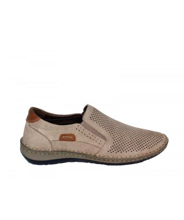 Pantofi casual Dr JELL'S Bej din piele naturala