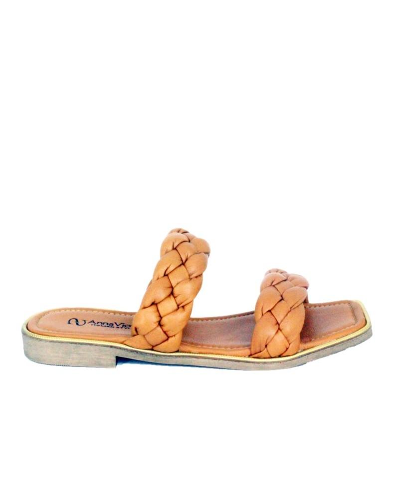 Sandale Dama ANNA VIOTTI Maro din piele naturala