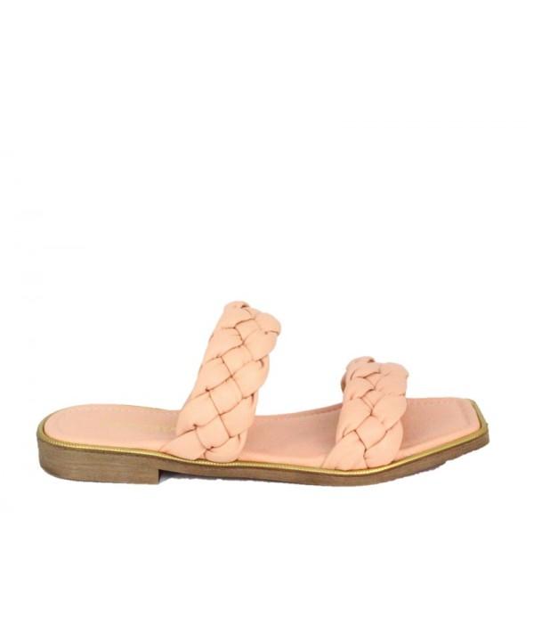 Sandale dama ANNA VIOTTI Roz din piele naturala D11