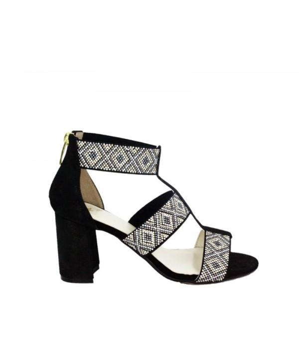 Sandale dama ANNA VIOTTI Negru din piele naturala
