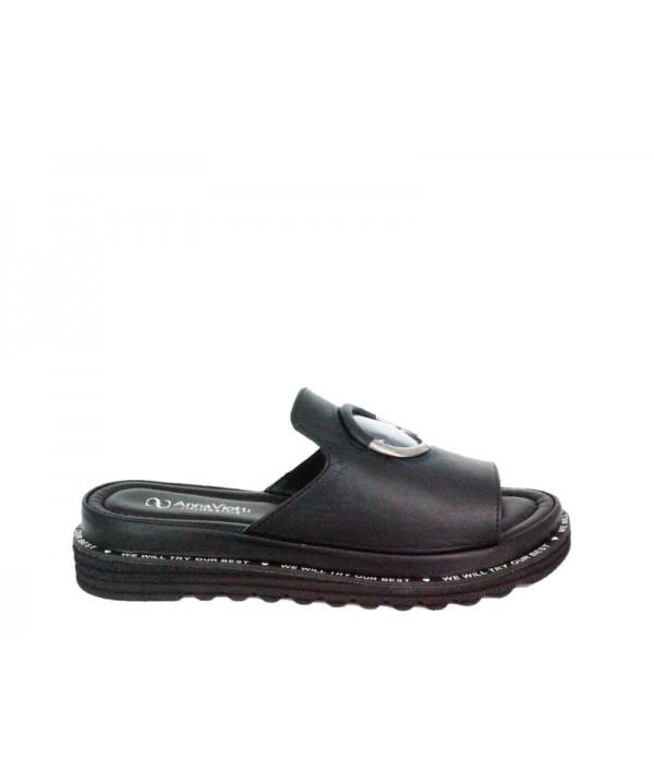 Sandale dama ANNA VIOTTI Negru din piele narala D205