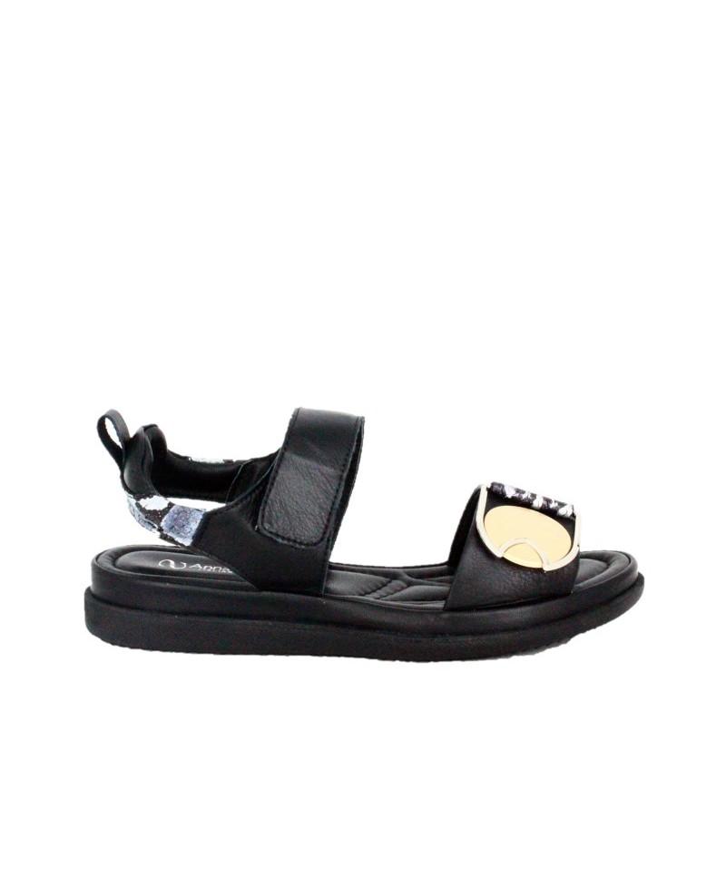 Sandale dama ANNA VIOTTI Negru din piele naturala D206