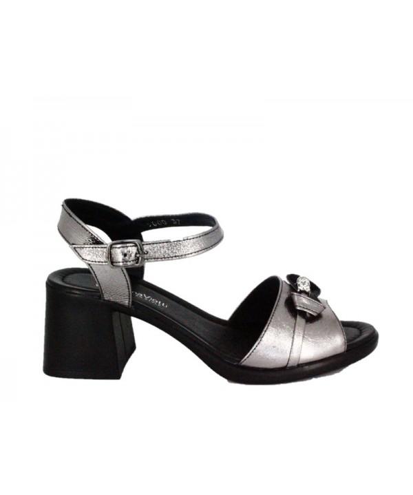 Sandale dama ANNA VIOTTI Argintiu din piele naturala