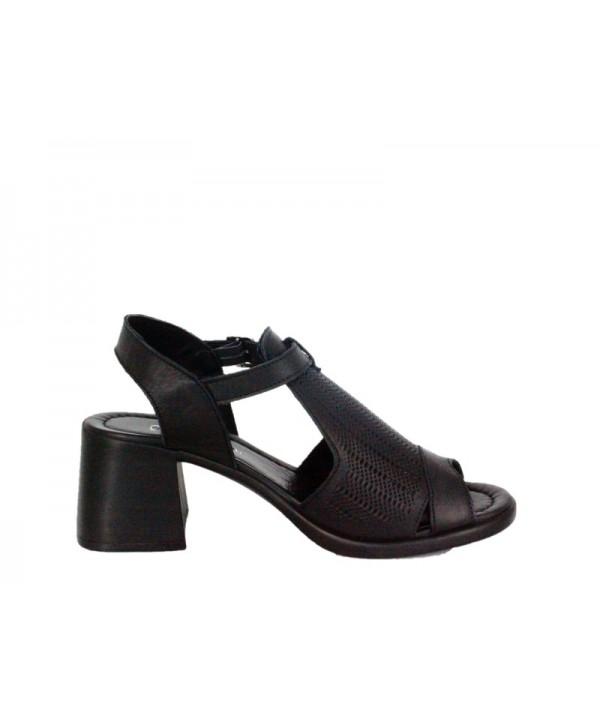 Sandale dama ANNA VIOTTI Negru din piele naturala D902