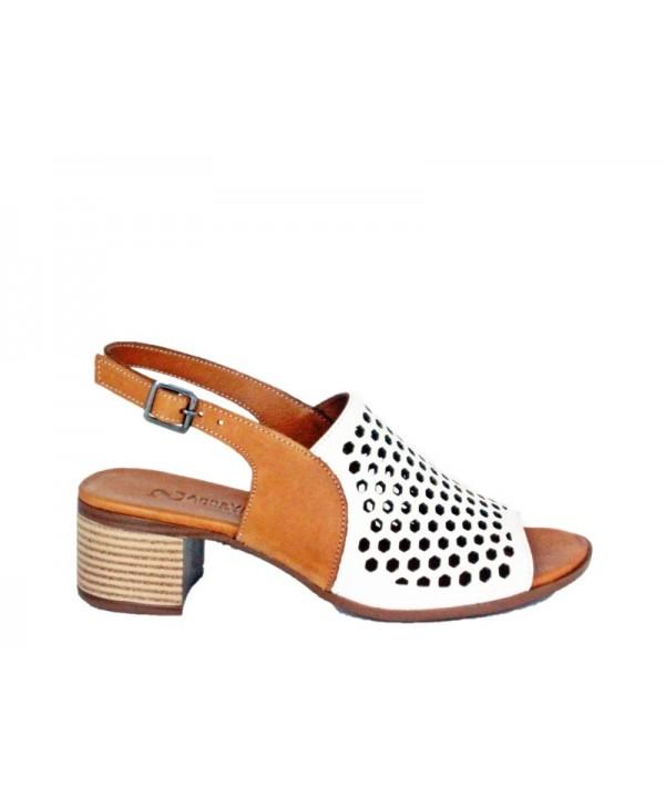 Sandale Dama ANNA VIOTTI Alb din piele naturala D9116