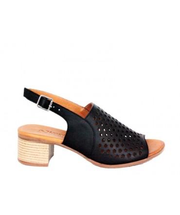 Sandale Dama ANNA VIOTTI Negru din piele naturala D9116
