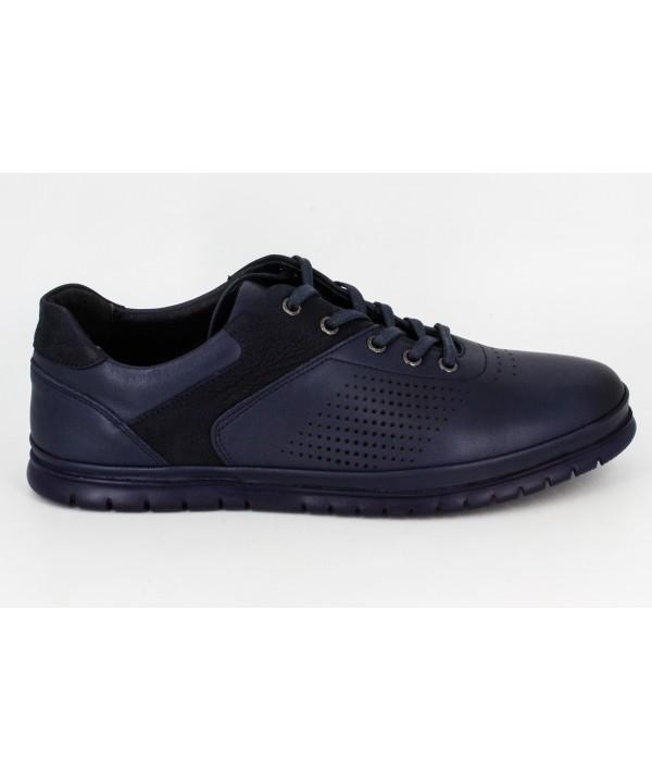 Pantofi casual DR JELL'S blu, din piele naturala B8781