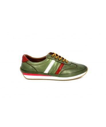 Pantofi casual dama Anna Viotti verde din piele naturala