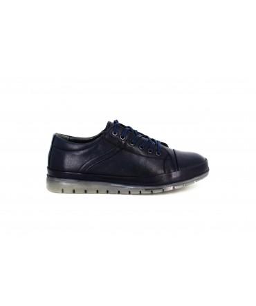 Pantofi casual dama Anna Viotti din piele naturala blue