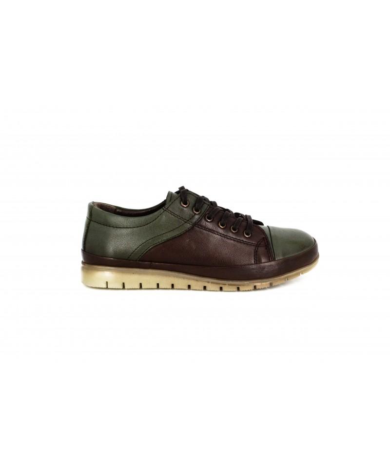Pantofi casual dama  Anna Viotti din piele naturala kaky