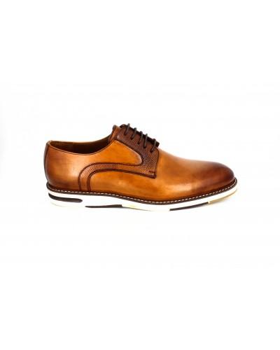 Pantofi casual Goretti coniac, din piele naturala