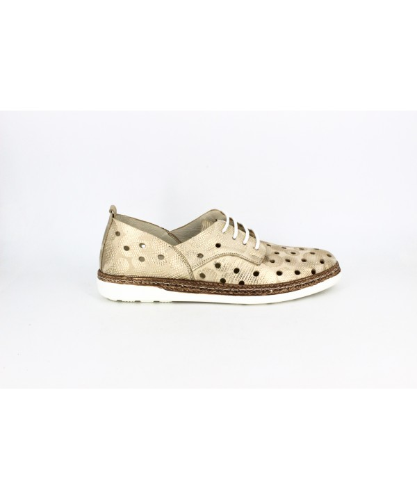 Pantofi dama Anna Viotti aurii din piele naturala