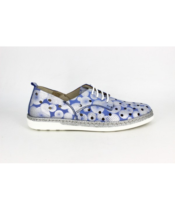 Pantofi dama Anna Viotti bleumarin din piele naturala