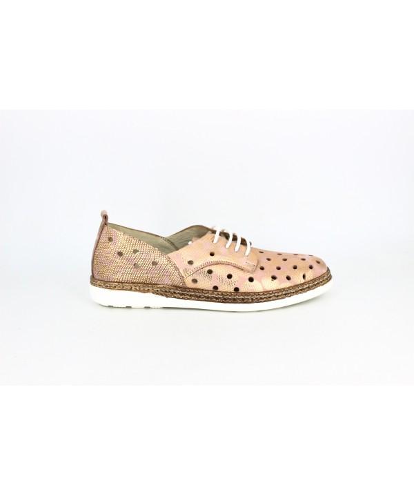 Pantofi dama Anna Viotti roz din piele naturala