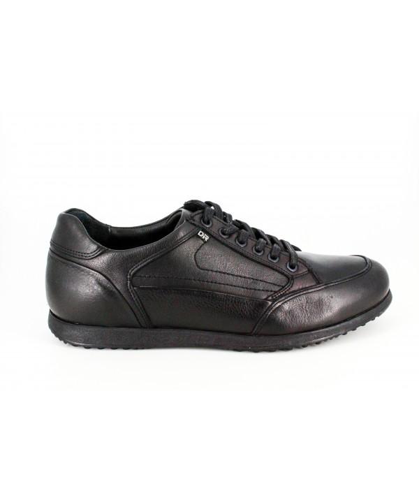 Pantofi  barbati  casual Dr. Jells negri, din piele naturala