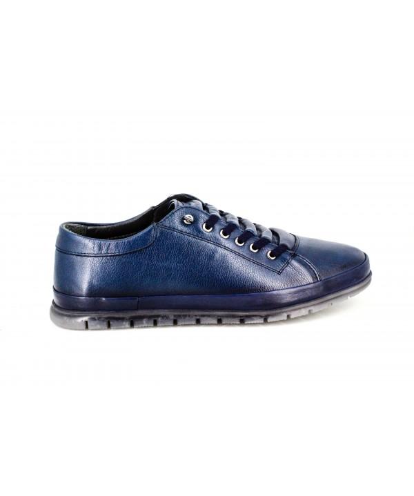 Pantofi barbati casual Goretti bleumarin din piele naturala