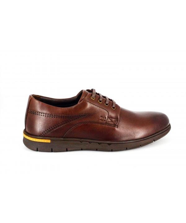 Pantofi casual Goretti maro, din piele naturala