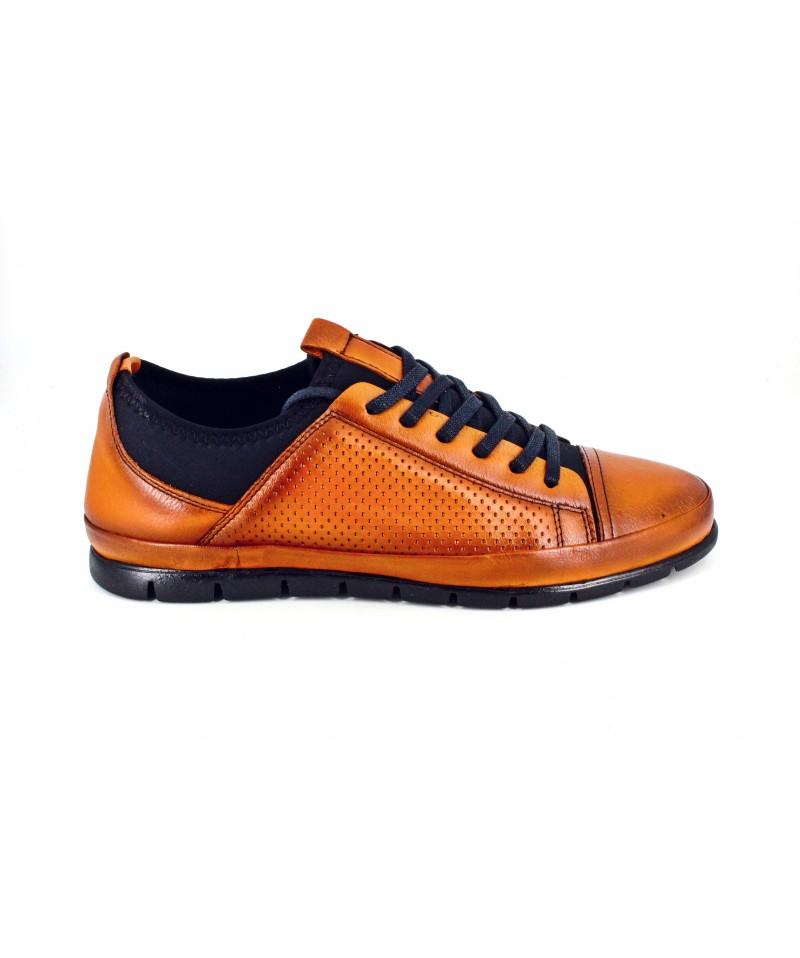 Pantofi barbati Goretti CONIAC din piele naturala