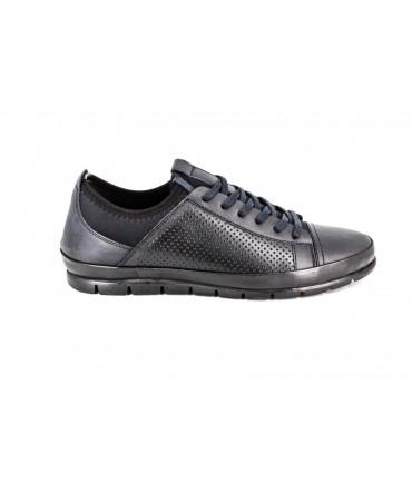 Pantofi barbati Goretti negri din piele naturala