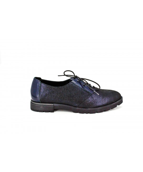 Pantofi dama casual anna viotii din piele naturala bleumarin