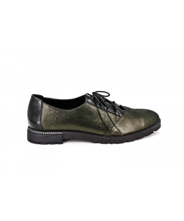 Pantofi dama casual anna viotii din piele naturala kaki