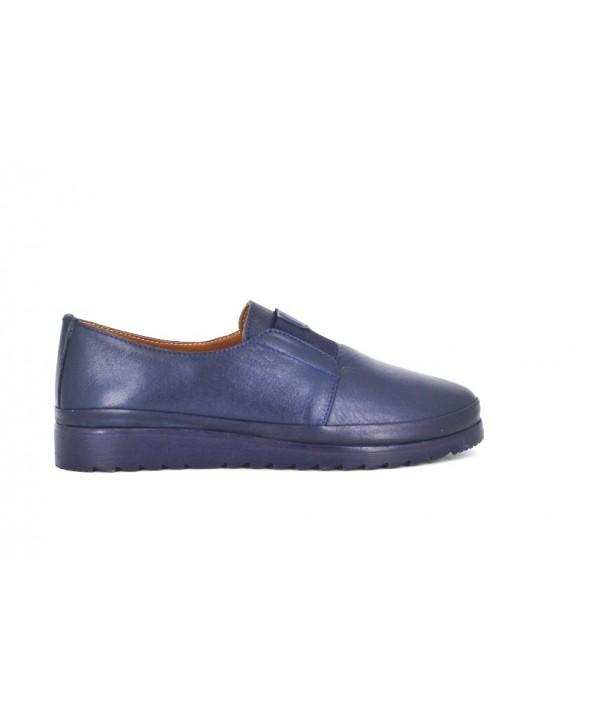 Pantofi dama Anna Viotti blu din piele naturala