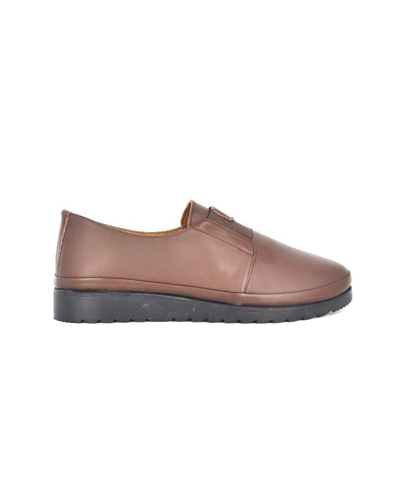 Pantofi dama Anna Viotti maro din piele naturala