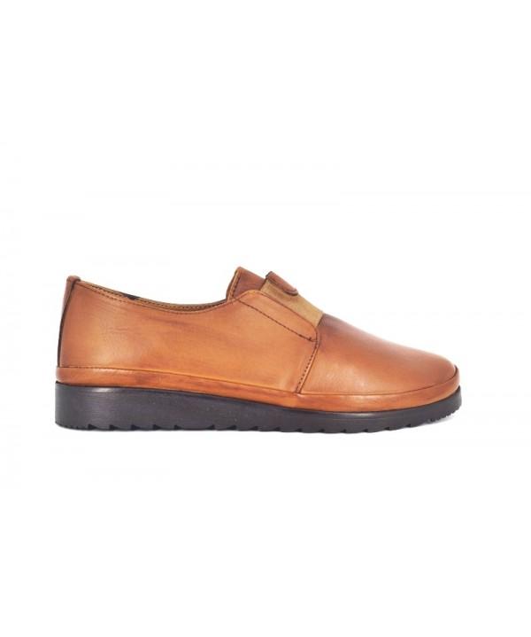 Pantofi dama Anna Viotti , culoare coniac, din piele naturala