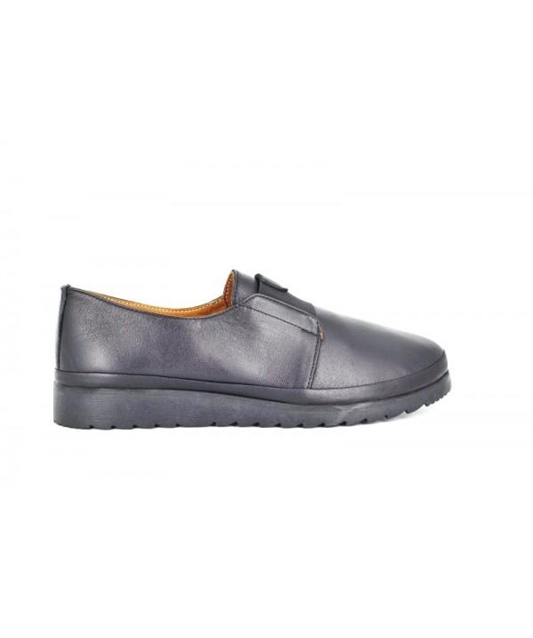 Pantofi dama Anna Viotti negri din piele naturala