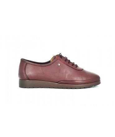 Pantofi dama Anna Viotti bordo din piele naturala