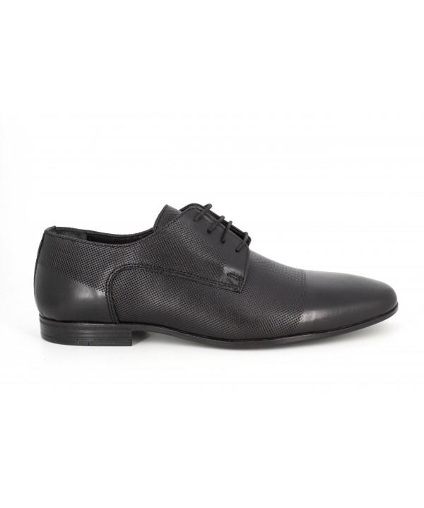Pantofi barbati Goretti din piele naturala b41209 black